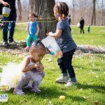 2 children at an easter egg hunt