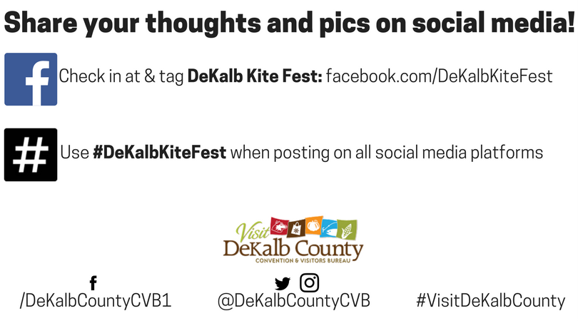 dekalb kite fest social media promo graphic