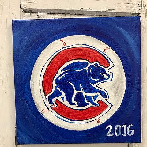 Kids chicago sports fan painting class dekalb county for Painting class chicago