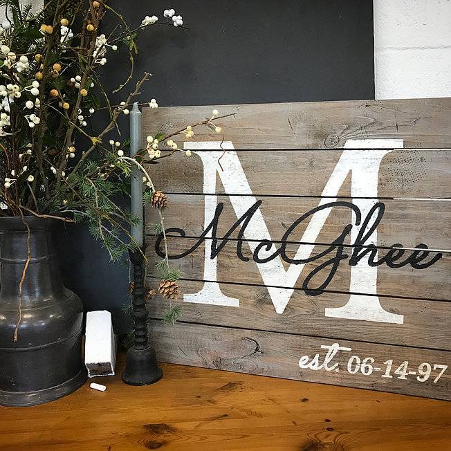 Monogram Wood Sign Workshop Dekalb County Convention And
