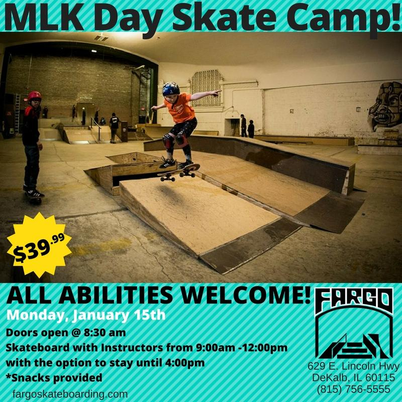 Mlk day skate camp at fargo skateboarding dekalb county for Bureau skate shop