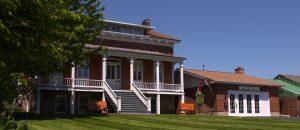 exterior shot of the gidden homestead