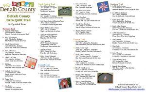 dekalb county barn quilt trail list