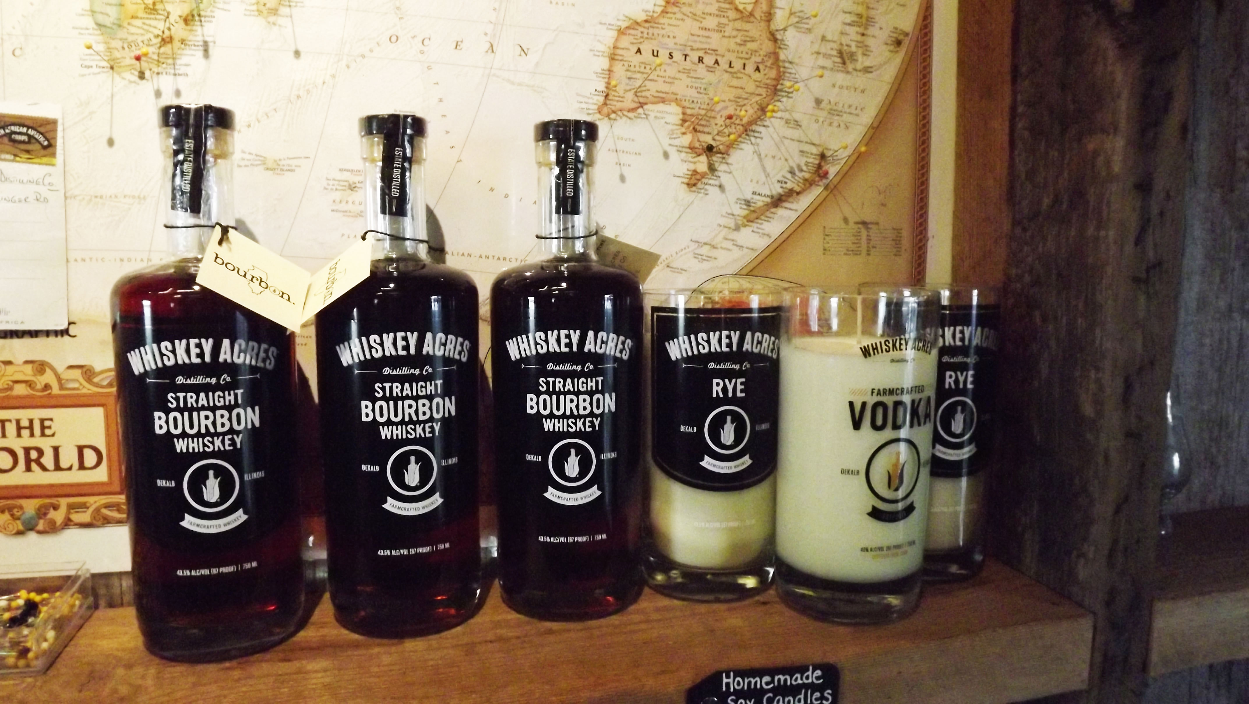 whiskey acres products