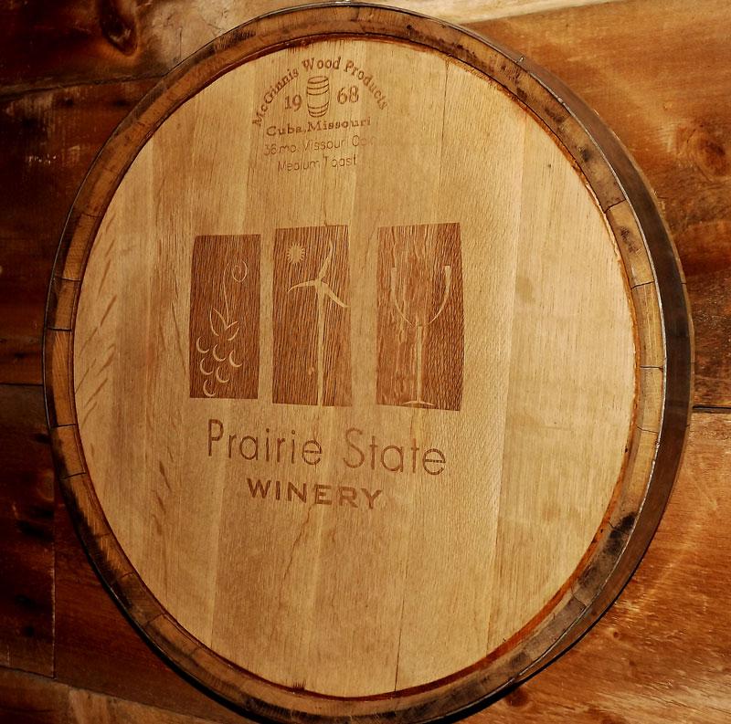 prairie state winery barrel